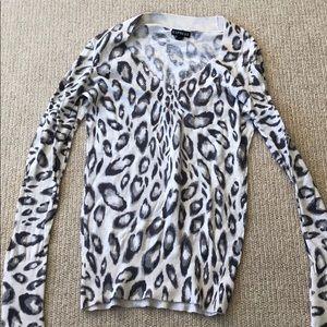 Express animal print sweater